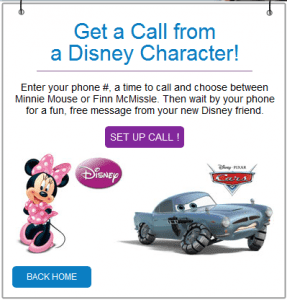 disney call 287x300 Free Potty   Training Praise Character Call from Disney Character!