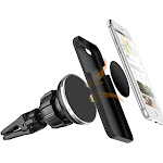 Insten Universal Air Vent Magnetic Car Mount Holder w/Secure Twist Lock Rotatable Joint For Cell Phones Small Tablets - Black