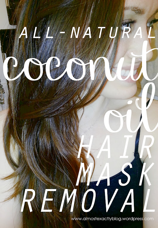 coconut oil hair mask removal - no-poo friendly!