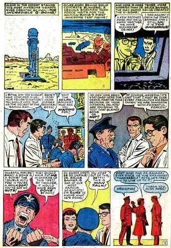 Page 2 of Incredible Hulk #1 by Stan Lee and Jack Kirby