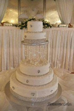 SALE SALE SALE Wedding Cake Stand With Crystals Chandelier
