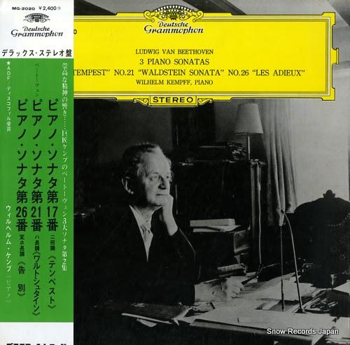 KEMPFF, WILHELM beethoven; piano sonatas no.17 tempest