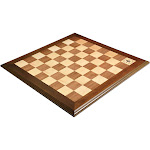 """Walnut and Maple Superior Traditional Chess Board - 2.25"""" Squares"""