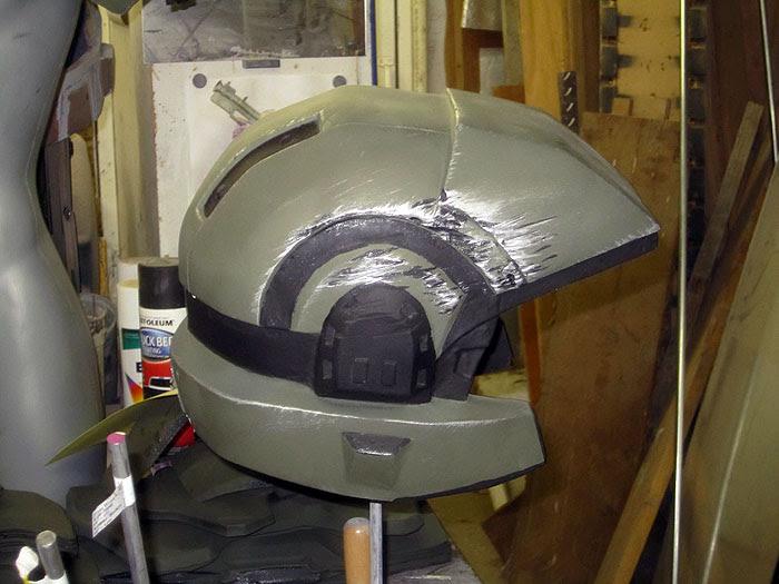 Scarred Marine Helmet