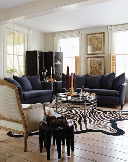 Gold And Silver Living Room Decor - Modern House
