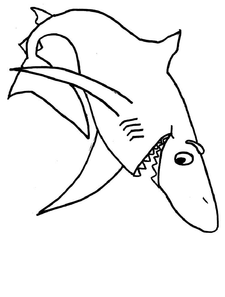 Sharks coloring pages. Download and print sharks coloring ...