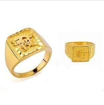 Hotsale Signet Mens Engagement Gold Rings 18k/24k
