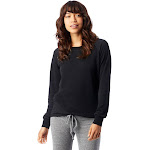 Alternative Lazy Day Burnout French Terry Pullover Sweatshirt M True Black , Alternative Apparel