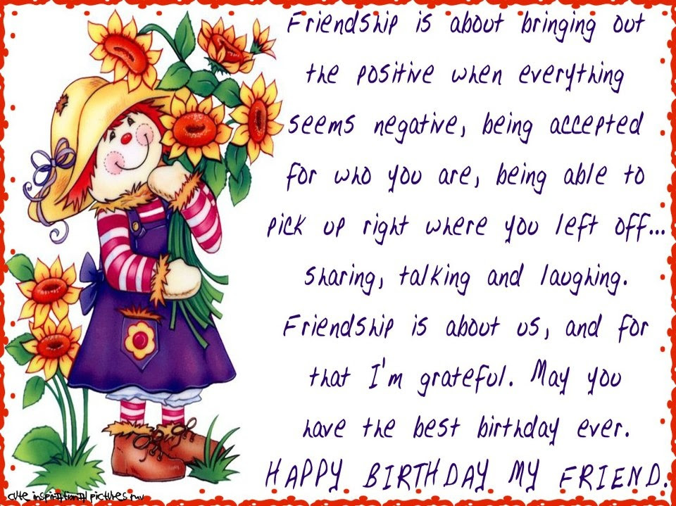 Best Friend Birthday Quotes Sayings Best Friend Birthday Picture Quotes