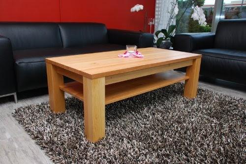 wohnzimmer ideen testen couchtisch 90 x 60 cm mit ablage erle echtholz massivholz h he 48 cm. Black Bedroom Furniture Sets. Home Design Ideas