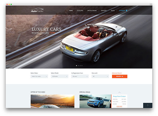 Responsive and Multipurpose Car Dealer WordPress Theme 2015