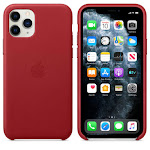 Brand New Apple iPhone 11 Pro Red Leather Case