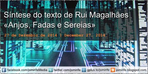 Blog post: Síntese do texto «Anjos, Fadas e Sereias» de Rui Magalhães