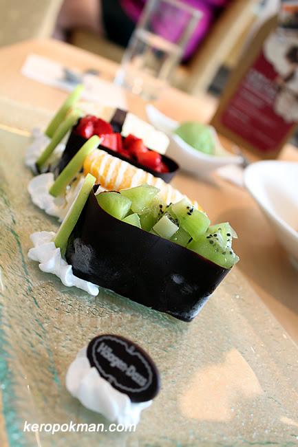 Haagen Dazs Sushi Platter - $22