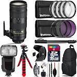 Nikon AF-S 70-200mm f/2.8E + Professional Flash & More - 16GB Accessory Kit