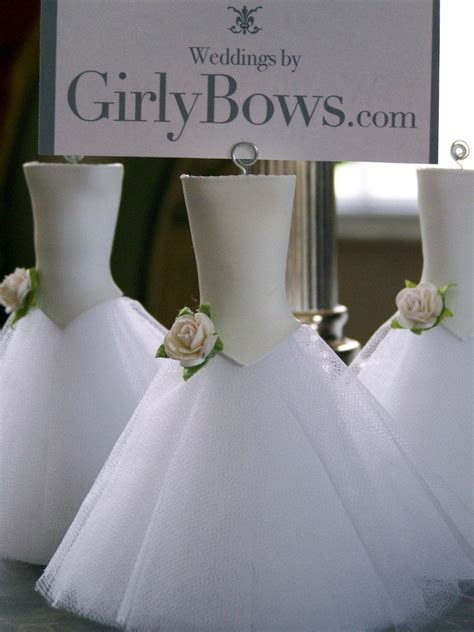 Place card holders white Tulle/ white rose by