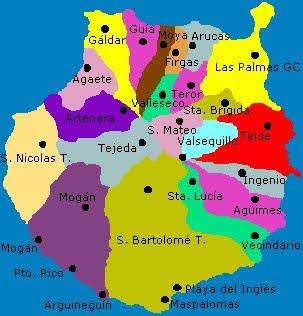 Mapa Municipios Gran Canaria.Mapa Municipios Gran Canaria Mapa
