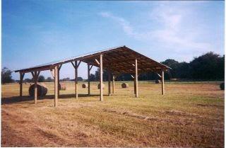Shedpa Steel Truss Pole Barn Plans