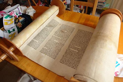 opened Sefer Torah