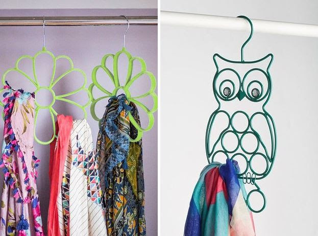 AD-14-Flower and Owl Scarf Hangers
