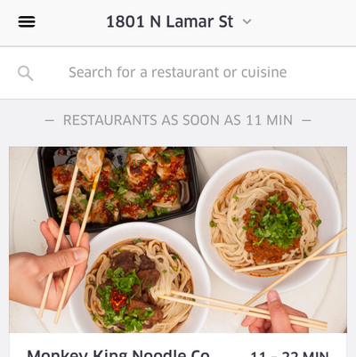 Uber brings stand-alone food delivery app to Dallas - Dallas Business Journal