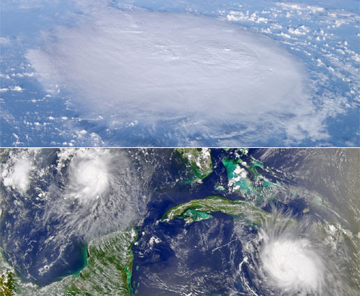 ISS, SeaWiFS images of tropical weather
