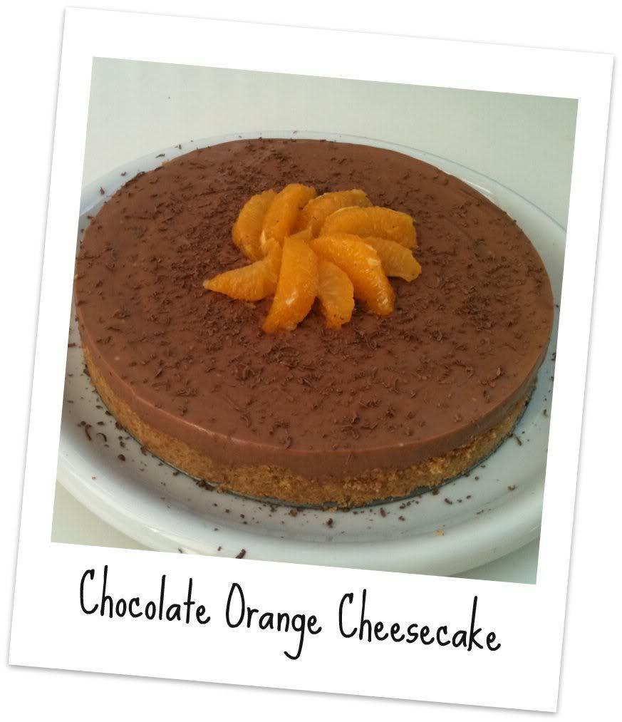 The Crazy Kitchen: Chocolate Orange Cheesecake
