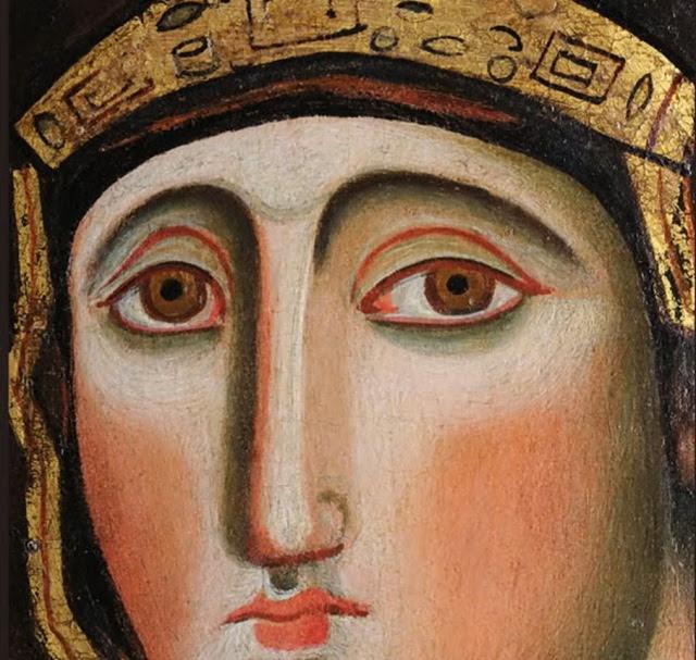 Ιταλικό αντίγραφο του 11ου αιώνα της Παναγίας Αγιοσορίτισσας. Διαστάσεις 51,5 Χ 82 εκ. Σήμερα βρίσκεται στην εκκλησία: Chiesa di Santa d' Aracoeli, Ρώμη.