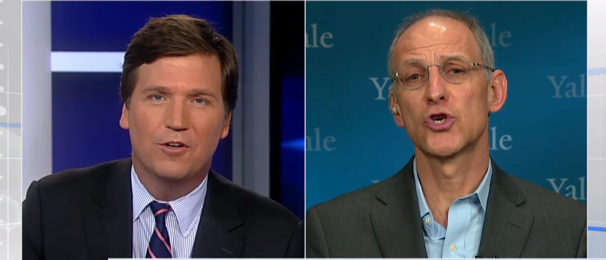 Tucker Carlson Ezekiel Emanuel Interview (Photo: Screenshot/Fox News)