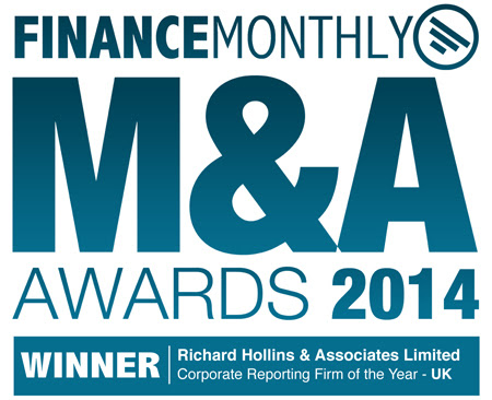 We're UK Corporate Reporting Firm of the Year « Richard Hollins & Associates