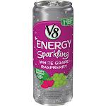 V8 +Energy Sparkling White Grape Raspberry, 12 oz.