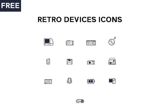 Free Retro Devices Icons