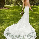 F113 sexy open back lace mermaid wedding dresses