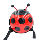 Milah's Friends Small Ladybug Backpack with Safety Strap Red