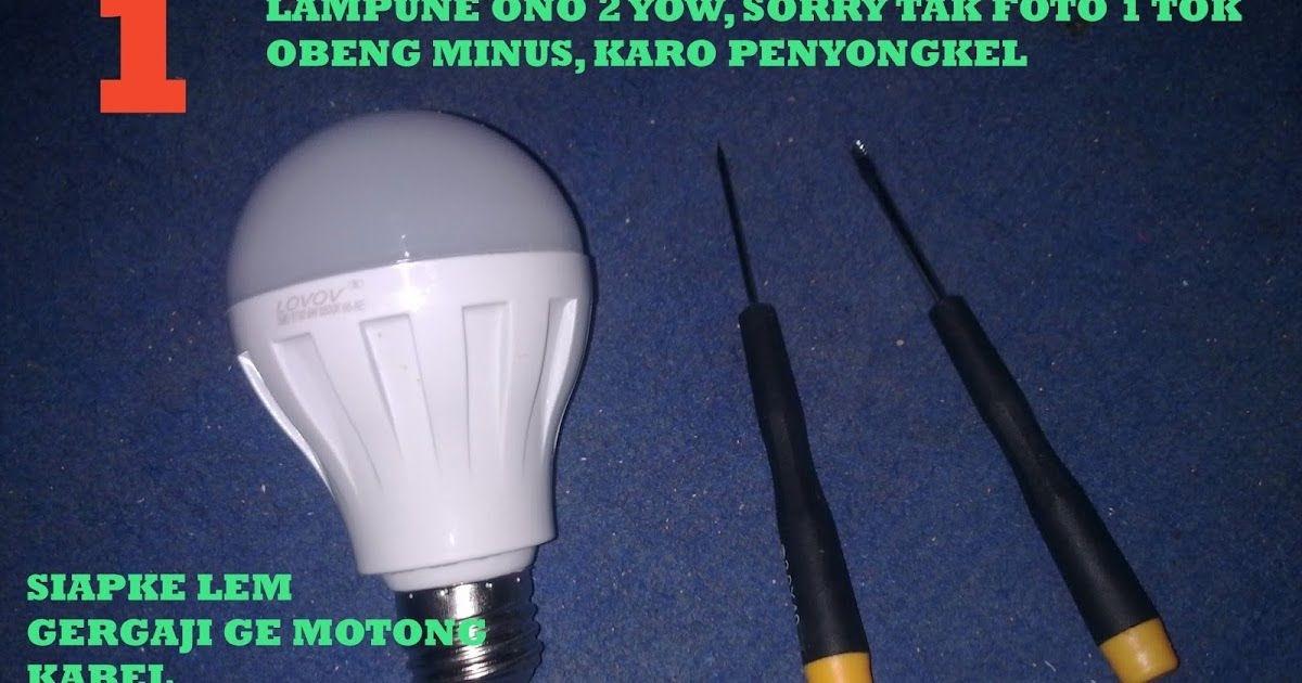 Lampu Led Bohlam Aquascape - LAMPUTASOR