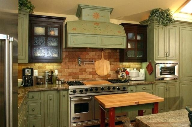 Kitchen Green Country Kitchens Olive Green Country Kitchens Small Country Green Kitchens Country Kitchens With Green Cabinets Home Design Decoration