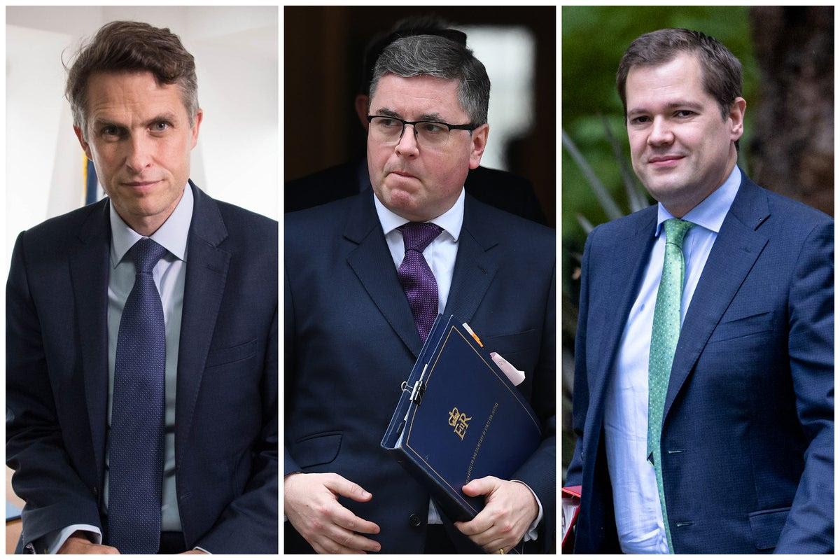 Gavin Williamson, Robert Buckland and Robert Jenrick sacked as Boris Johnson carries out cabinet reshuffle