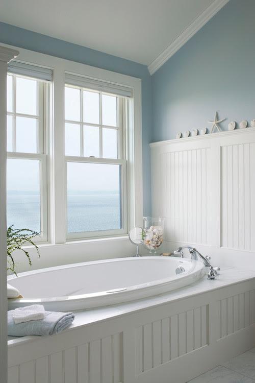 Coastal and Beach Decor: Beach Decor Spa Bathroom