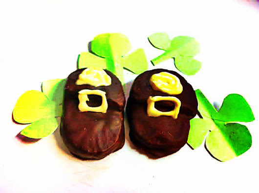 """Leprechaun Loafer"" Chocolate-Dipped Butterscotch Cookies"