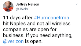 Verizon PR exec tweets incredibly insensitive post-hurricane message targeting T-Mobile, deletes it after outrage