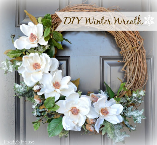 DIY White Winter Wreath – Puddy's House
