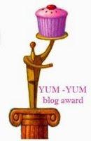 Yum yum blog award