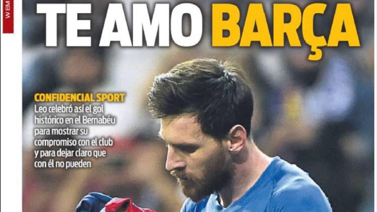 Messi Su Amor Al Barça Y Los 500 Goles En Portada Ascom