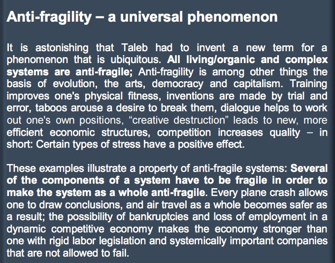 Anti Fragility