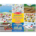 Melissa & Doug Reusable Sticker Pad, Vehicles