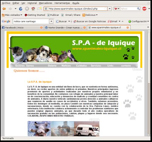 www.spanimales-iquique.cl