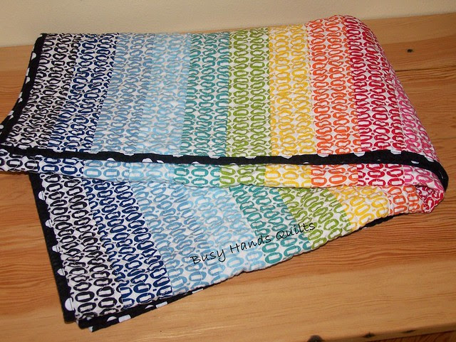 Rainbow Baby Quilt in Pezzy Prints
