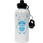 Cute Abominable Snowman Boy Yeti - Christmas Aluminum 600ml Water Bottle