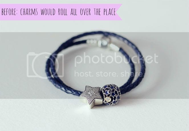 pandora blue rope leather