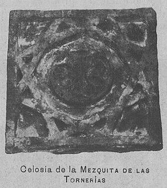 Mezquita de Tornerías, publicada en 1905, Celosia